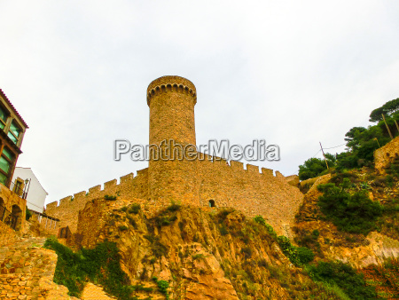 view of ancient fortress in tossa