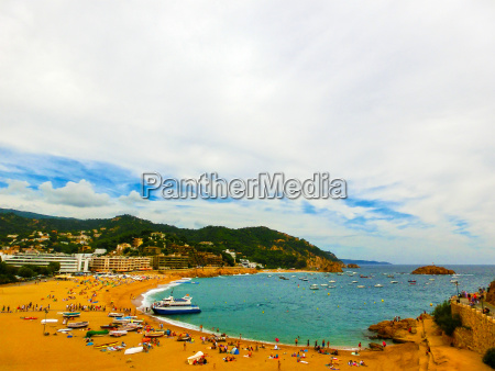 view of the beach in tossa