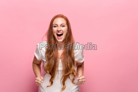 portrait of young woman with happy