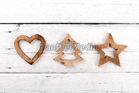 christmas greeting card wooden decorations