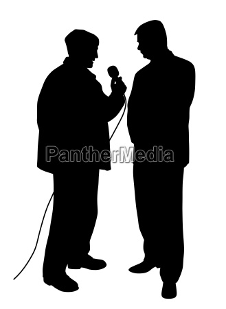 reporter asking a question to a