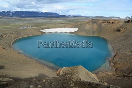 crater iceland volcanism geology mountain scenery