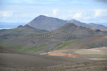 hill mountains cloud iceland volcanism geology