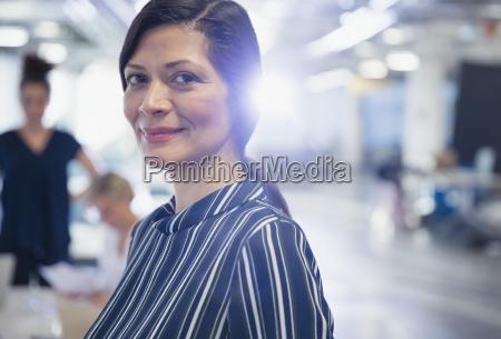 portrait smiling confident mature businesswoman