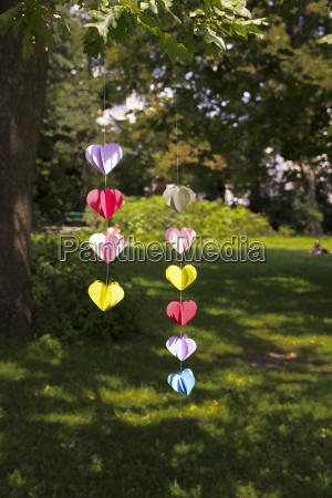 heart shaped garland made of paper
