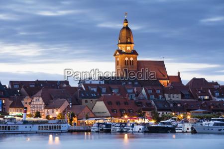 germany waren view to mueritz harbour