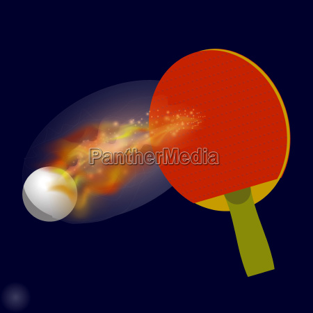 table tennis racket and ball with