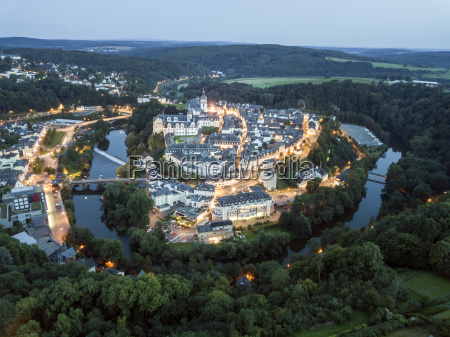 old town of weilburg at night