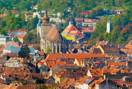 brasov old town skyline romania