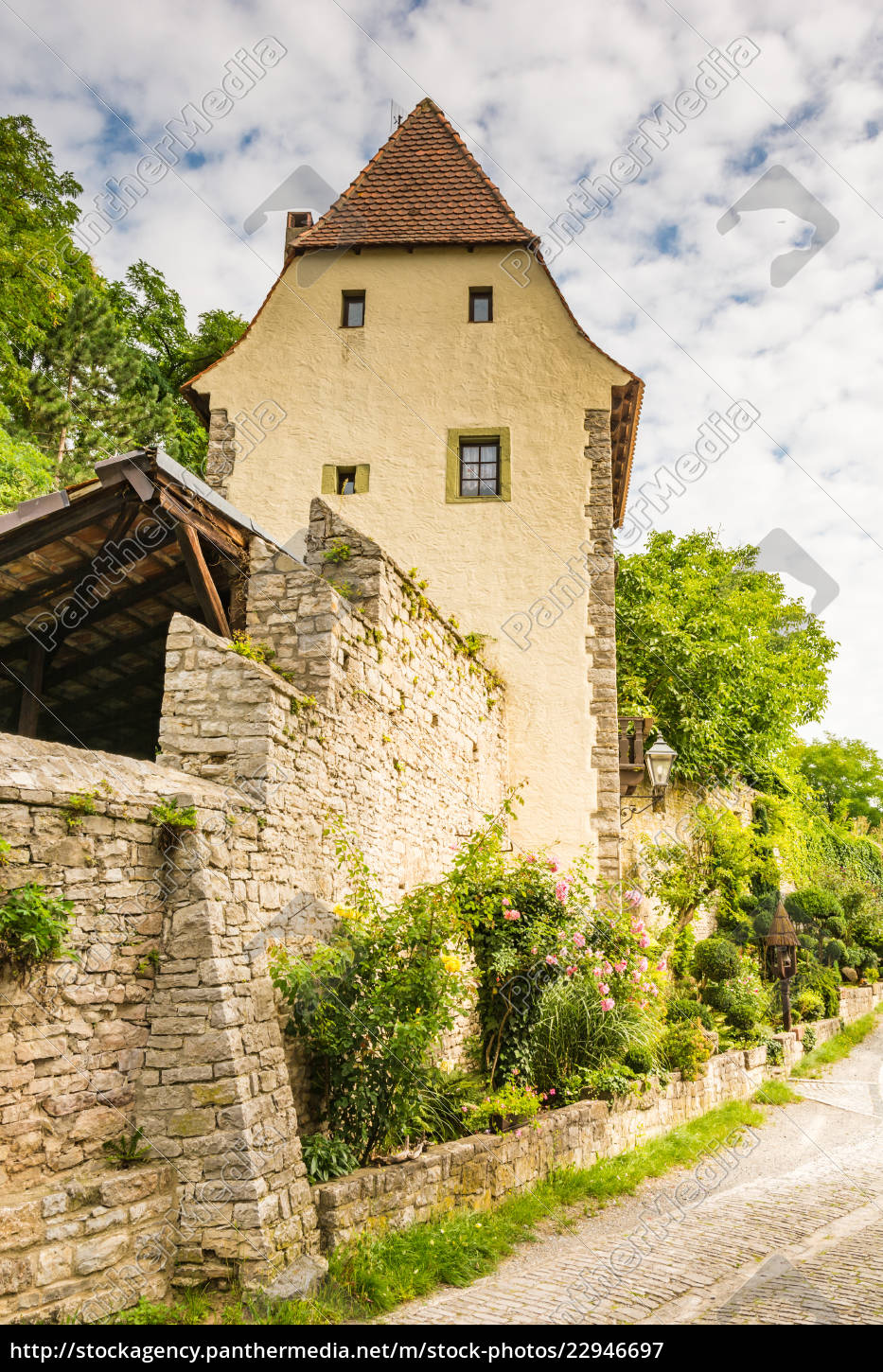 medieval, defense, tower, in, sulfeld, am - 22946697