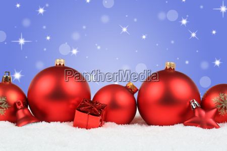 christmas red christmas balls background decoration