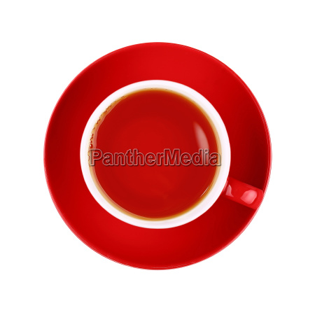full red cup of black tea