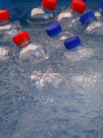 pet plastic bottles of cold drinking