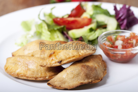 homemade empanadas with salsa