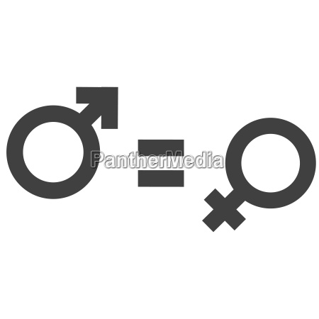 gender inequality and equality icon symbol