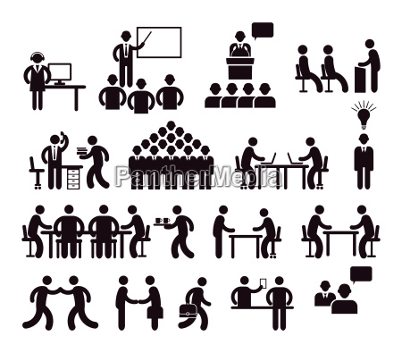 workplace concept pictogram