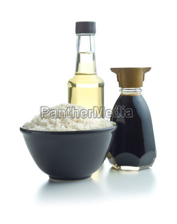 sushi rice soy sauce and vinegar