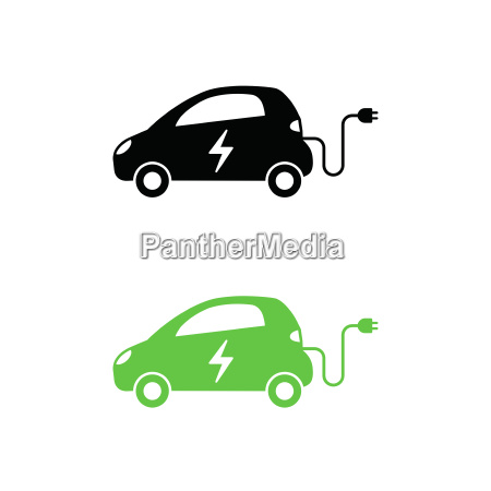 electric car with electrical charging cable