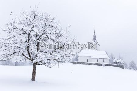 church of versam among the snow