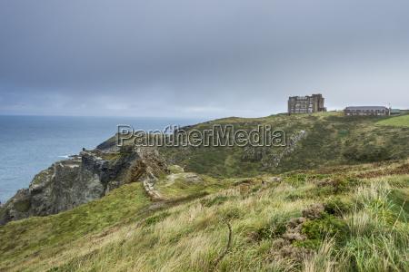 tintagel castle on tintagel island cornwall