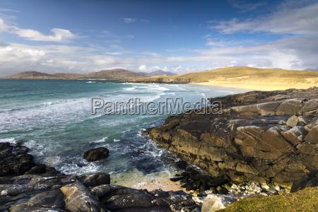 rocky shoreline on west coast of