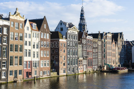 old gabled buildings near damrak amsterdam
