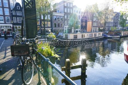 brouwersgracht canal amsterdam netherlands europe
