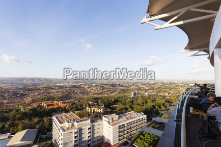 view from ubumwe grande hotel kigali