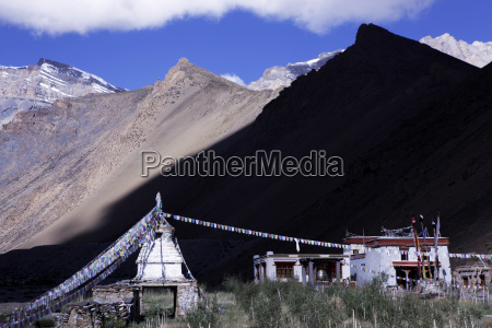 a remote gompa in the high