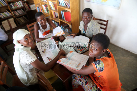 library in an african school where