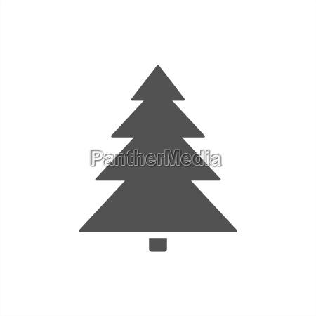 christmas tree icon on a white
