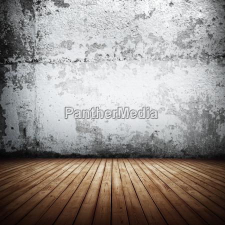 retro indoor old wall 3d rendering