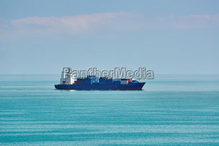 container ship in the black sea