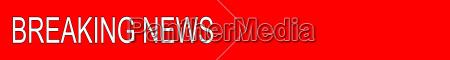 red breaking news banner illustration
