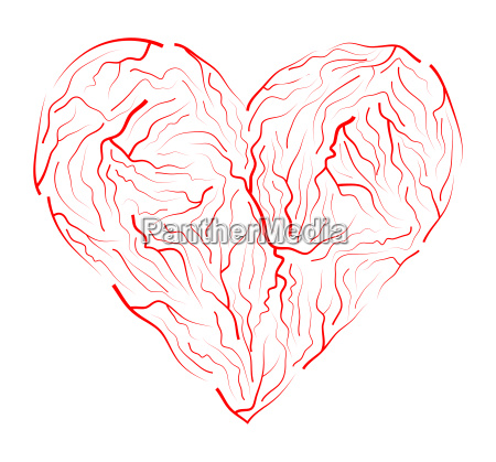 vein heart vector symbol icon design