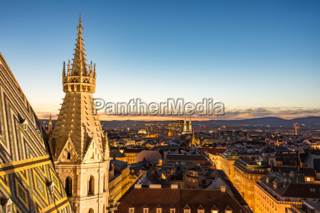 stephansdom cathedral and aerial view over
