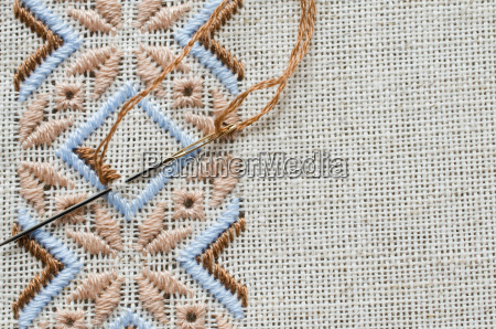 element handmade embroidery on linen