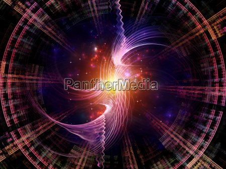 virtual radial fractal texture