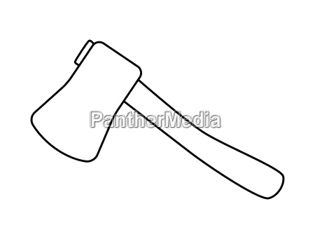 cartoon ax hatchet silhouette vector symbol