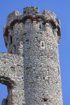 ruins of 14th century medieval castle