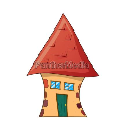 cartoon house vector symbol icon design