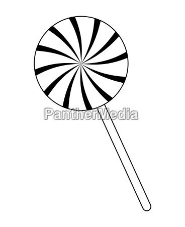 swirl striped lollipop peppermint vector symbol
