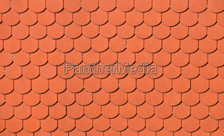 red brown ceramic roof tiles pattern
