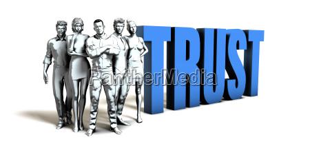 trust business concept