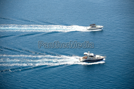 two boats sailing in adriatic sea