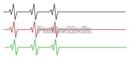 heart rhythm ecg line vector symbol