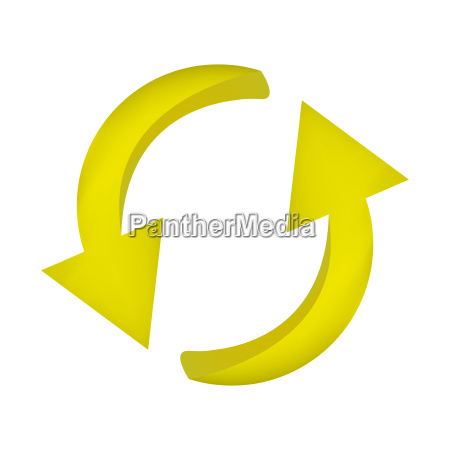 arrow symbol yellow icon clipart cycle