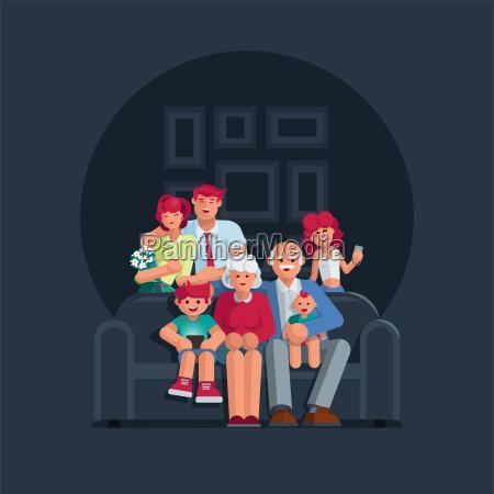 happy big family portrait