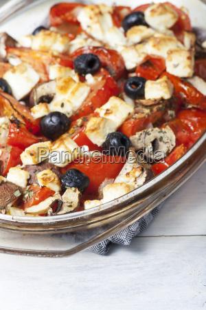 grilled greek feta cheese on glass