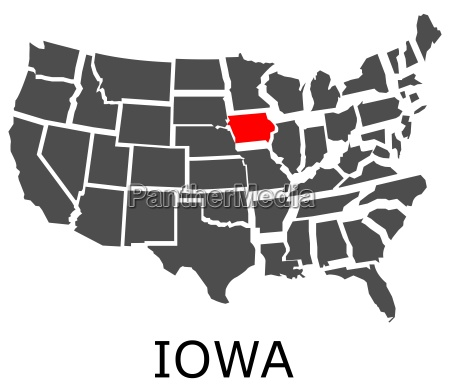 state of iowa on map of